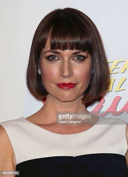 Actress Julie Ann Emery attends the series premiere of AMC's 'Better Call Saul' at Regal Cinemas LA Live on January 29 2015 in Los Angeles California