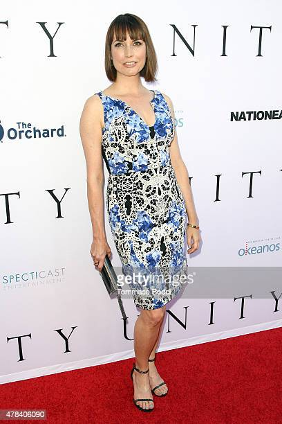 Actress Julie Ann Emery attends the world premiere screening of documentary 'Unity' held at the DGA Theater on June 24 2015 in Los Angeles California