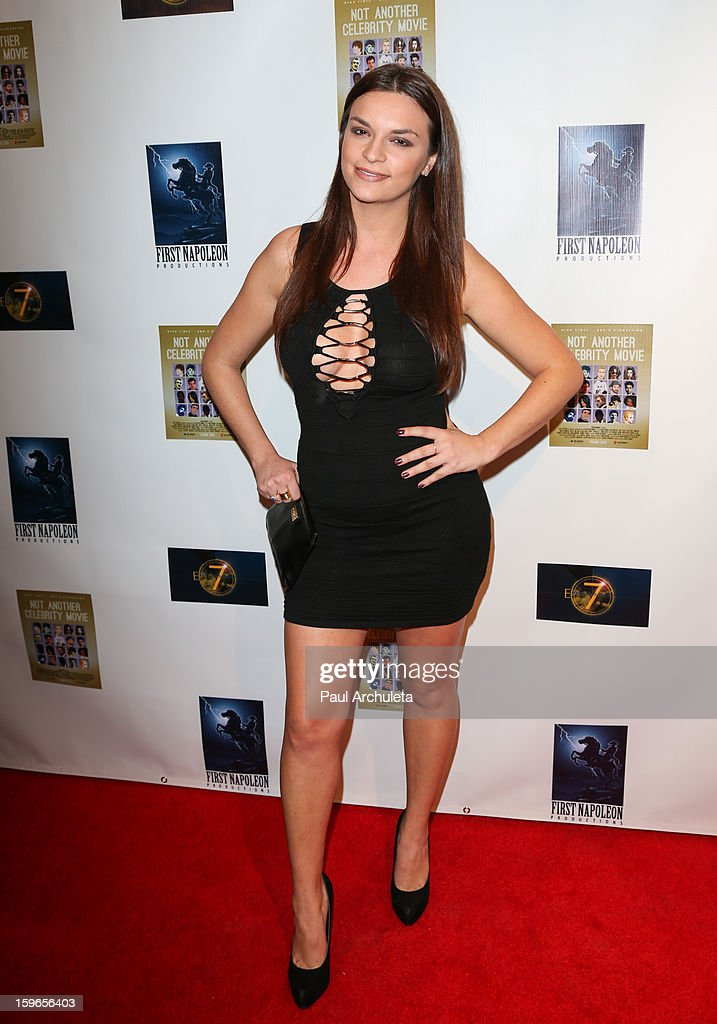 Actress Julie Barzman attends the premiere for 'Not Another Celebrity Movie' at Pacific Design Center on January 17, 2013 in West Hollywood, California.