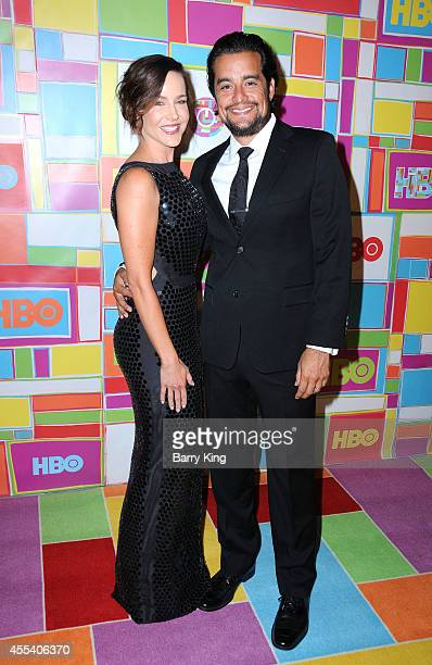 Actress Julie Benz and husband Rich Orosco attend HBO's 2014 Emmy after party at The Plaza at the Pacific Design Center on August 25 2014 in Los...