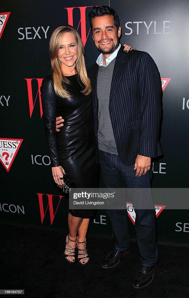 Actress Julie Benz (L) and husband Rich Orosco attend W Magazine and Guess celebrating 30 years of fashion and film and the next generation of style icons at Laurel Hardware on January 8, 2013 in West Hollywood, California.
