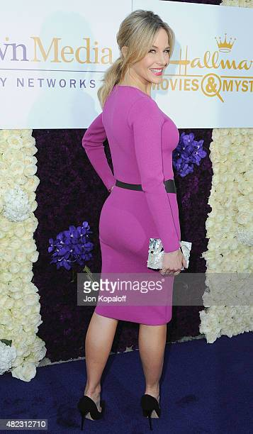 Actress Julie Benz arrives at 2015 Summer TCA Tour Hallmark Channel and Hallmark Movies And Mysteries on July 29 2015 in Beverly Hills California