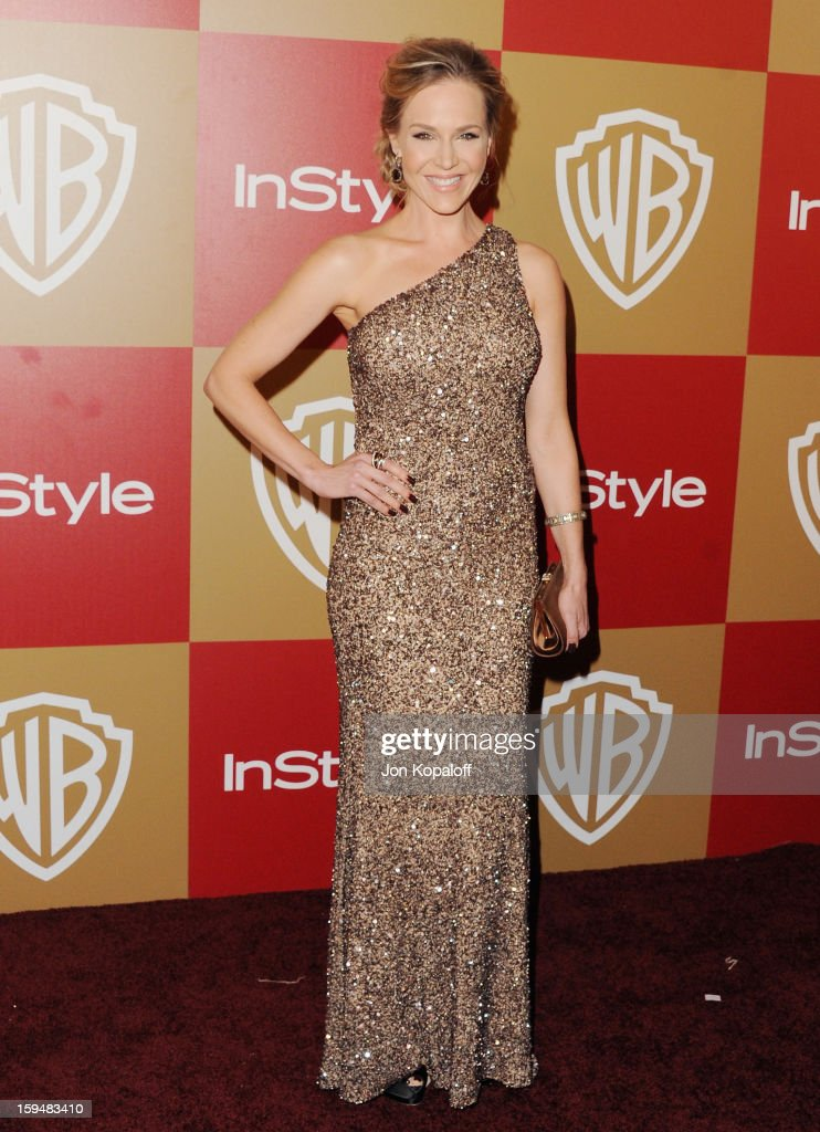 Actress Julie Benz arrives at the InStyle And Warner Bros. Golden Globe Party at The Beverly Hilton Hotel on January 13, 2013 in Beverly Hills, California.