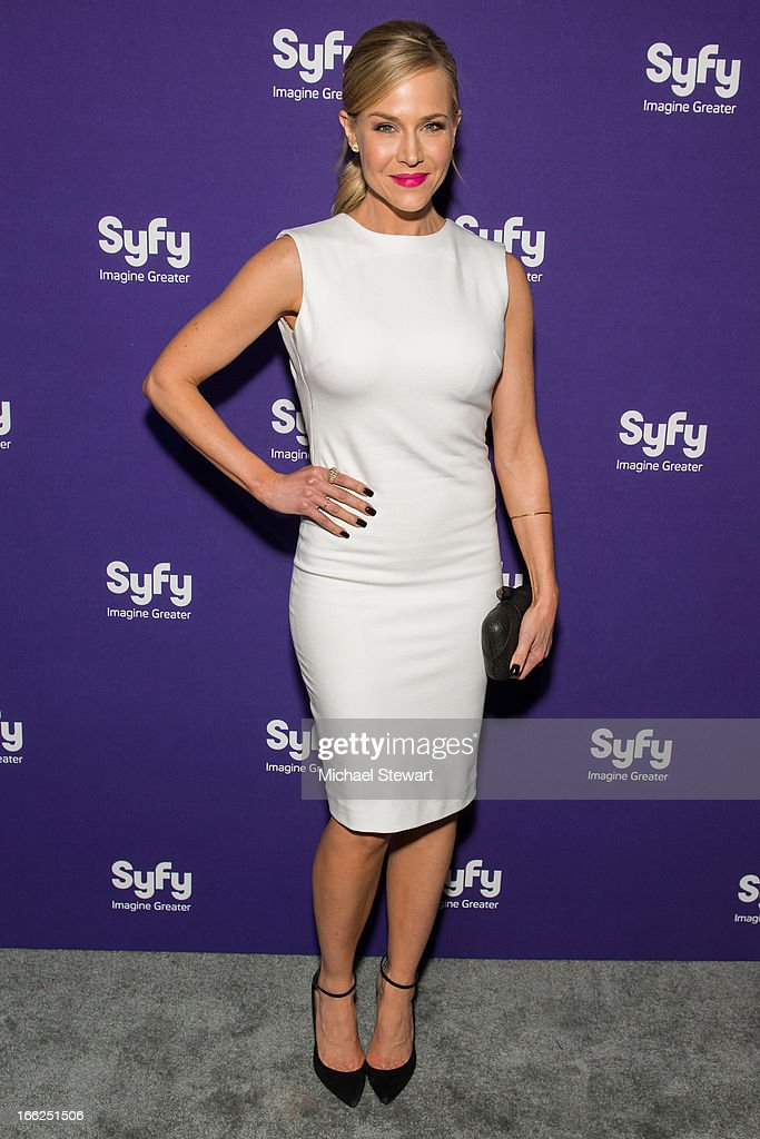 Actress Julie Benz attends the 2013 Syfy Upfront at Silver Screen Studios at Chelsea Piers on April 10, 2013 in New York City.