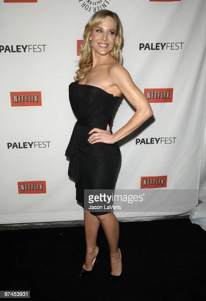 Actress Julie Benz attends the 'Dexter' event at the 27th annual PaleyFest at Saban Theatre on March 4 2010 in Beverly Hills California