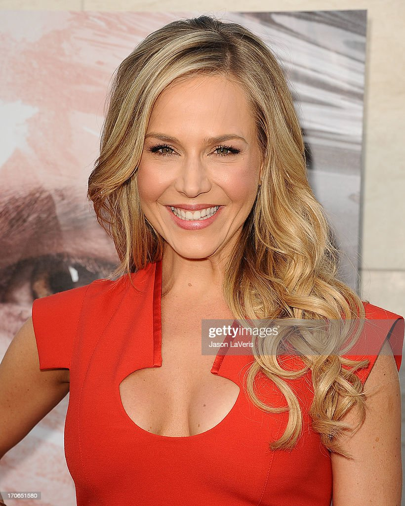 Actress Julie Benz attends the 'Dexter' series finale season premiere party at Milk Studios on June 15, 2013 in Hollywood, California.