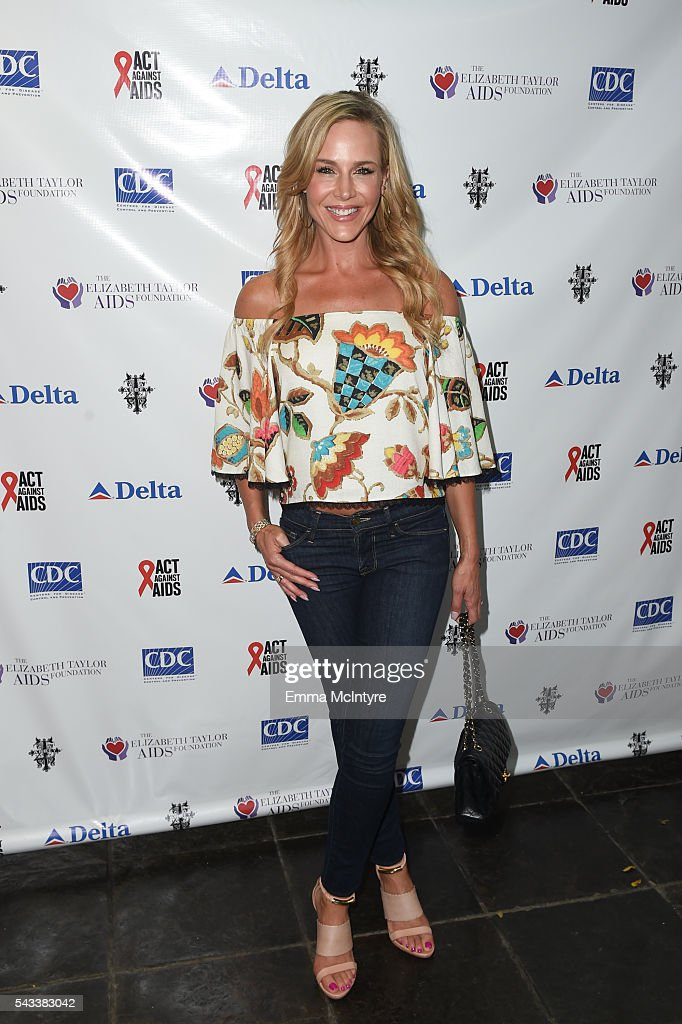 Actress <a gi-track='captionPersonalityLinkClicked' href=/galleries/search?phrase=Julie+Benz&family=editorial&specificpeople=217554 ng-click='$event.stopPropagation()'>Julie Benz</a> attends 'The Elizabeth Taylor AIDS Foundation Hosts HIV Testing' at The Abbey on June 27, 2016 in West Hollywood, California.