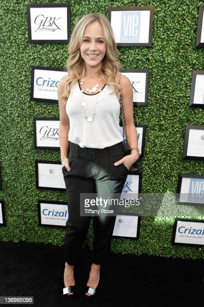 Actress Julie Benz attends the GBK's Golden Globes Gift Lounge at L'Ermitage Beverly Hills Hotel on January 13 2012 in Beverly Hills California