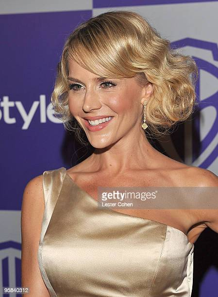 Actress Julie Benz attends the InStyle and Warner Bros 67th Annual Golden Globes post party held at the Oasis Courtyard at The Beverly Hilton Hotel...