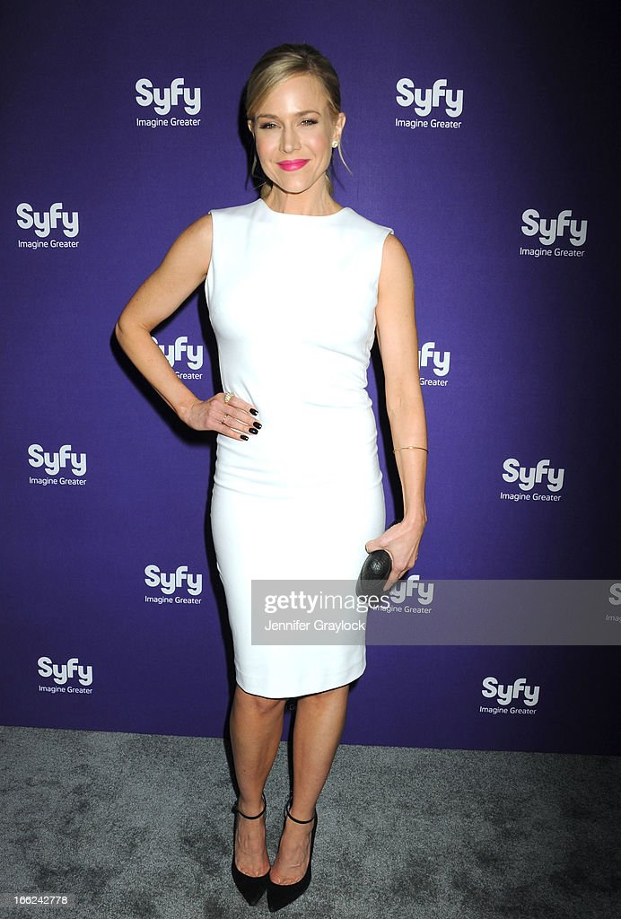 Actress Julie Benz attends the Syfy 2013 Upfront at Silver Screen Studios at Chelsea Piers on April 10, 2013 in New York City.