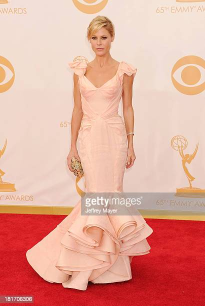 Actress Julie Bowen arrives at the 65th Annual Primetime Emmy Awards at Nokia Theatre LA Live on September 22 2013 in Los Angeles California