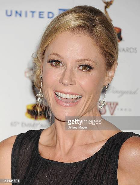 Actress Julie Bowen arrives at the 65th Emmy Awards Performers Nominee Reception at Spectra by Wolfgang Puck at the Pacific Design Center on...