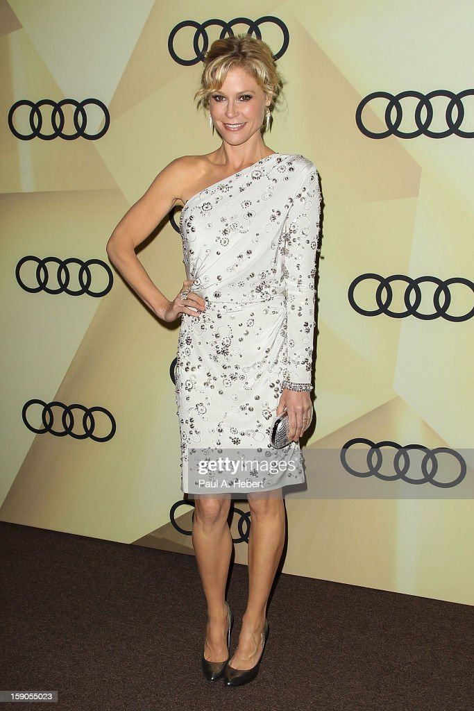 Actress <a gi-track='captionPersonalityLinkClicked' href=/galleries/search?phrase=Julie+Bowen&family=editorial&specificpeople=244057 ng-click='$event.stopPropagation()'>Julie Bowen</a> arrives at the Audi Golden Globe 2013 Kick Off Party at Cecconi's Restaurant on January 6, 2013 in Los Angeles, California.