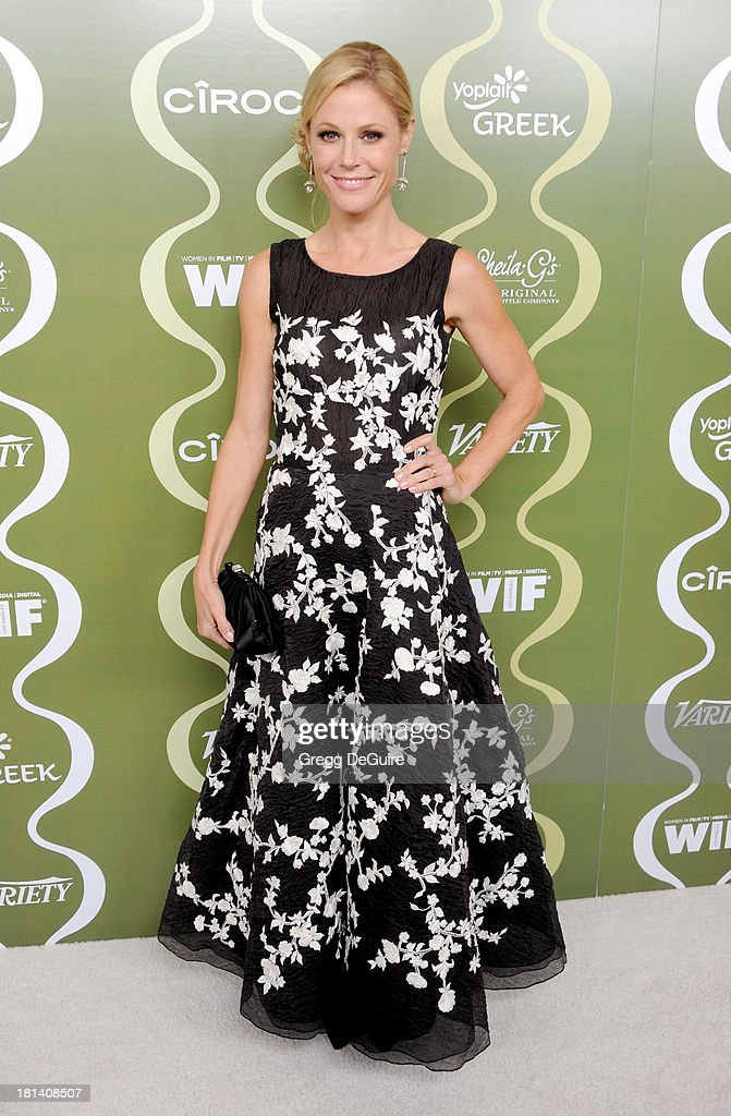 Actress <a gi-track='captionPersonalityLinkClicked' href=/galleries/search?phrase=Julie+Bowen&family=editorial&specificpeople=244057 ng-click='$event.stopPropagation()'>Julie Bowen</a> arrives at the Variety and Women In Film Pre-Emmy Party at Scarpetta on September 20, 2013 in Beverly Hills, California.