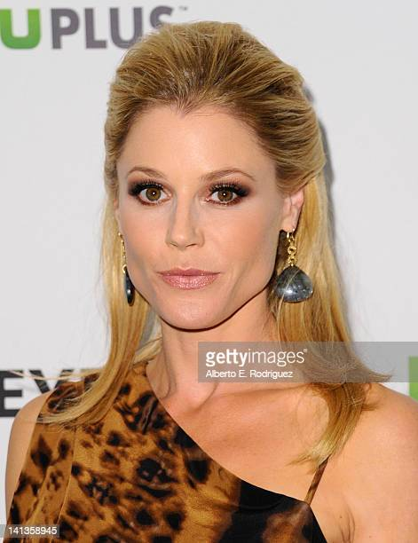 Actress Julie Bowen arrives to The Paley Center for Media's PaleyFest 2012 honoring 'Modern Family' at Saban Theatre on March 14 2012 in Beverly...