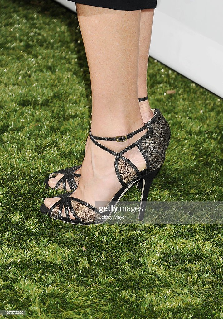 Actress <a gi-track='captionPersonalityLinkClicked' href=/galleries/search?phrase=Julie+Bowen&family=editorial&specificpeople=244057 ng-click='$event.stopPropagation()'>Julie Bowen</a> (shoe detail) at the 2nd Annual Baby2Baby Gala at The Book Bindery on November 9, 2013 in Culver City, California.