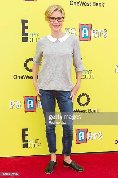 Actress Julie Bowen attends PS Arts Express Yourself 2013 at Barker Hangar on November 17 2013 in Santa Monica California