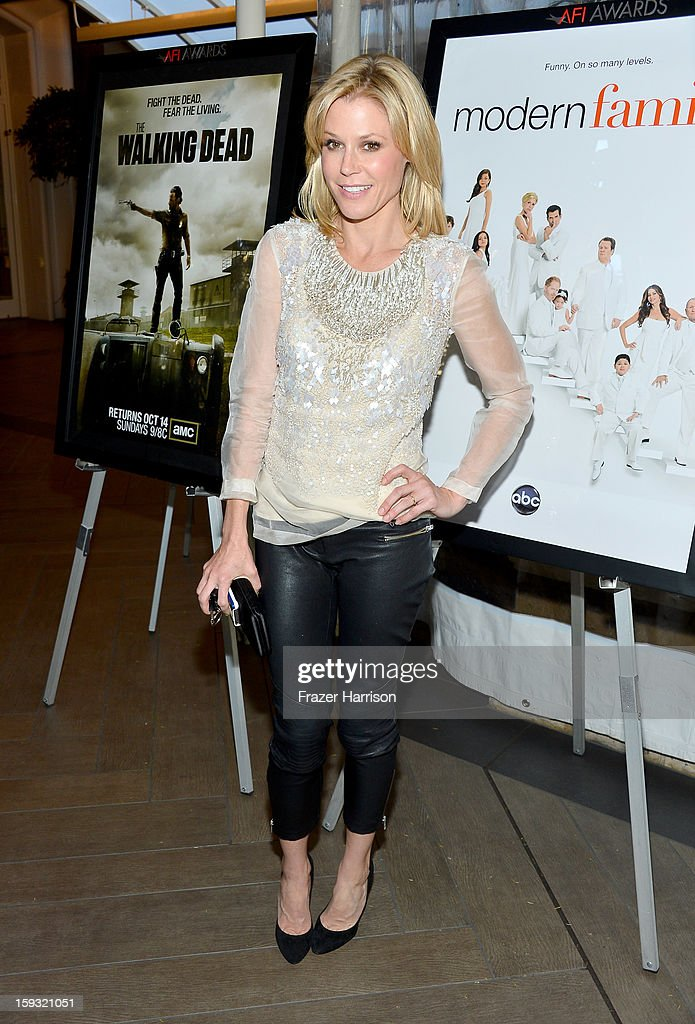 Actress <a gi-track='captionPersonalityLinkClicked' href=/galleries/search?phrase=Julie+Bowen&family=editorial&specificpeople=244057 ng-click='$event.stopPropagation()'>Julie Bowen</a> attends the 13th Annual AFI Awards at Four Seasons Los Angeles at Beverly Hills on January 11, 2013 in Beverly Hills, California.
