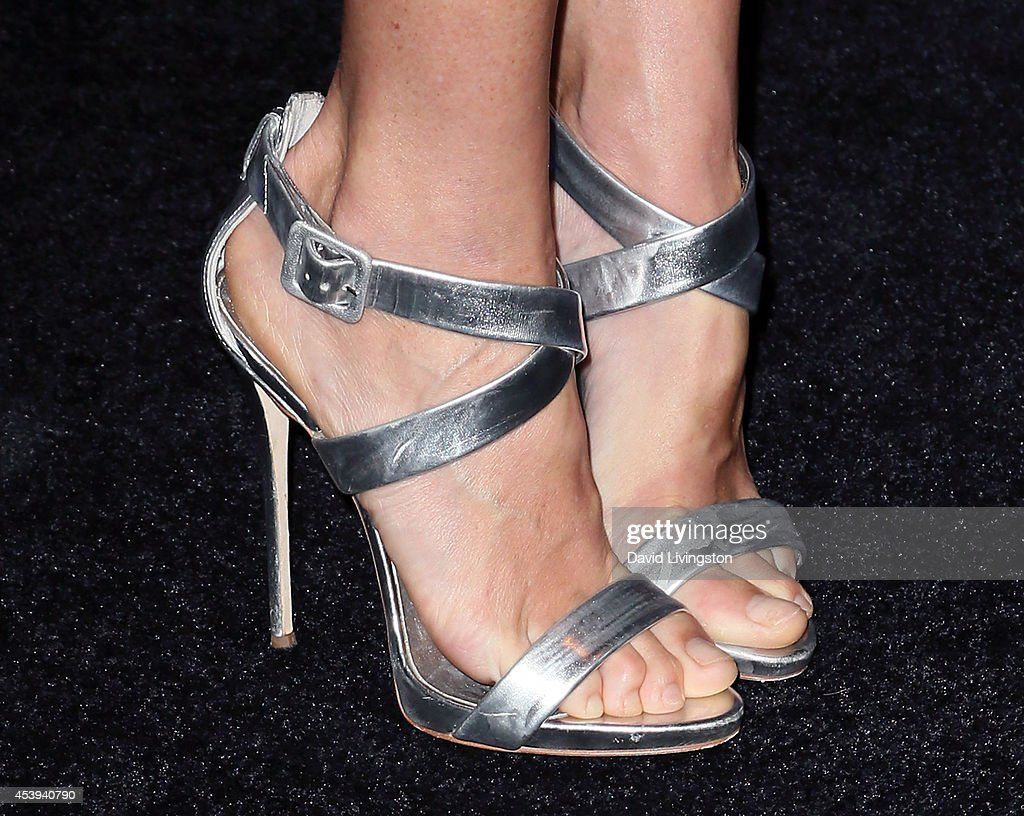 Actress Julie Bowen (shoe detail) attends the Audi celebration of Emmys Week 2014 at Cecconi's Restaurant on August 21, 2014 in Los Angeles, California.