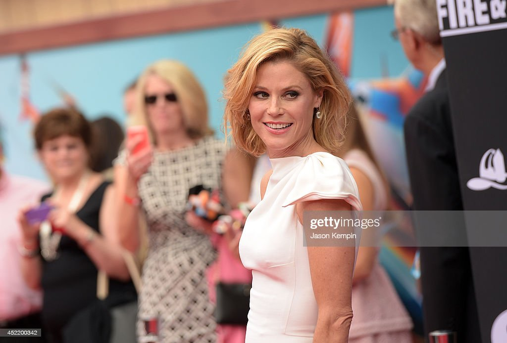 Actress <a gi-track='captionPersonalityLinkClicked' href=/galleries/search?phrase=Julie+Bowen&family=editorial&specificpeople=244057 ng-click='$event.stopPropagation()'>Julie Bowen</a> attends the premiere of Disney's 'Planes: Fire & Rescue' at the El Capitan Theatre on July 15, 2014 in Hollywood, California.