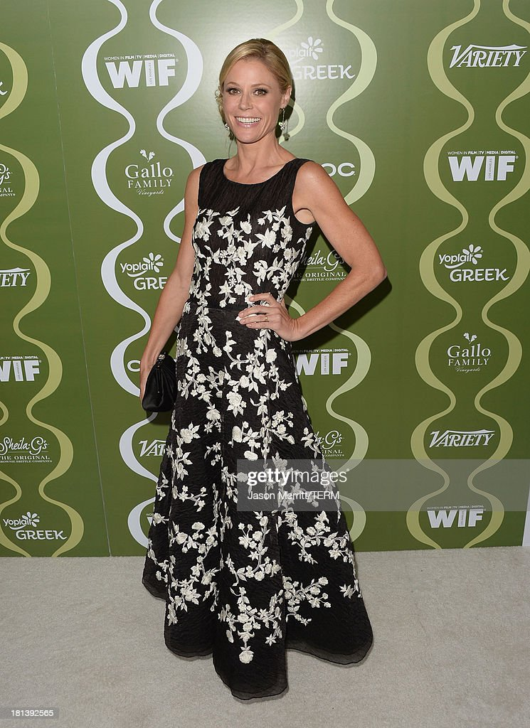 Actress <a gi-track='captionPersonalityLinkClicked' href=/galleries/search?phrase=Julie+Bowen&family=editorial&specificpeople=244057 ng-click='$event.stopPropagation()'>Julie Bowen</a> attends Variety & Women In Film Pre-Emmy Event presented by Yoplait Greek at Scarpetta on September 20, 2013 in Beverly Hills, California.