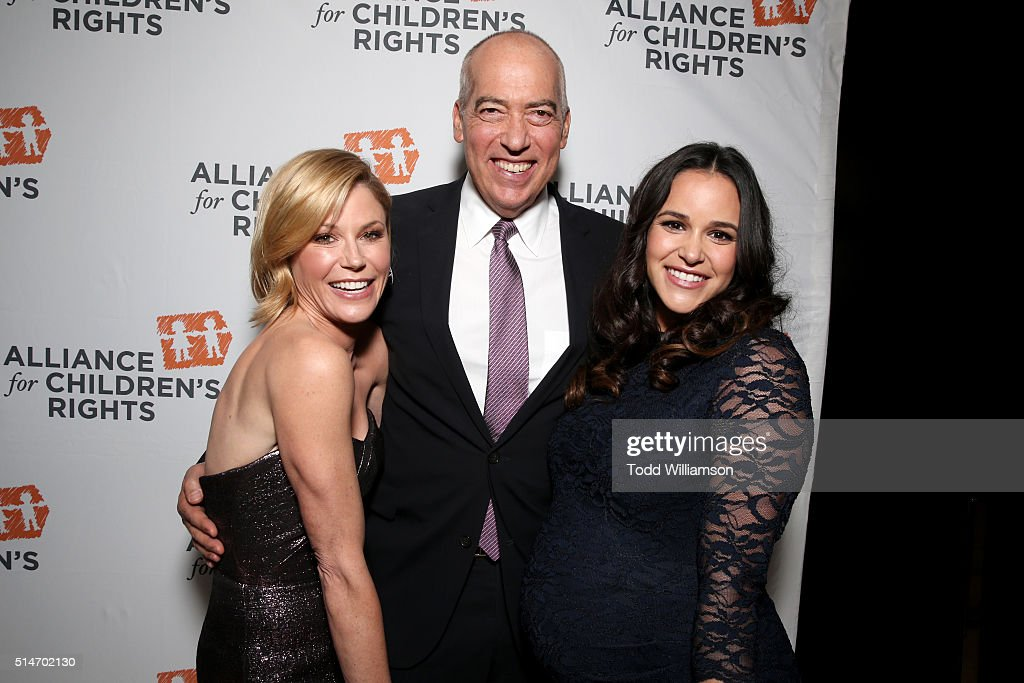 Actress Julie Bowen Fox Television Group Chairman/CEO and honoree Gary Newman and actress Melissa Fumero attend the Alliance for Children's Rights'...