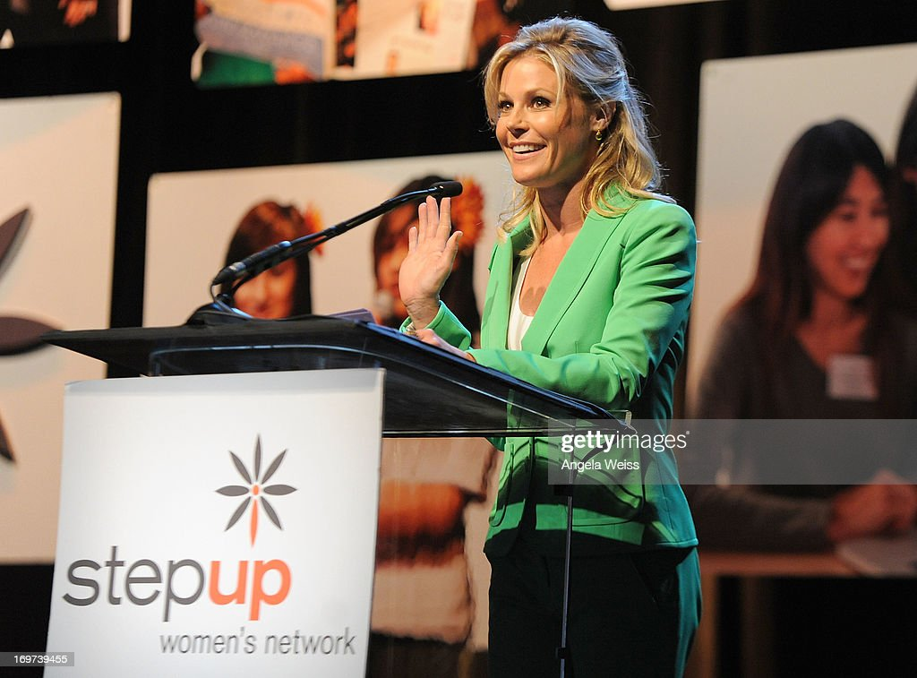 Actress <a gi-track='captionPersonalityLinkClicked' href=/galleries/search?phrase=Julie+Bowen&family=editorial&specificpeople=244057 ng-click='$event.stopPropagation()'>Julie Bowen</a> speaks at Step Up Women's Network 10th annual Inspiration Awards at The Beverly Hilton Hotel on May 31, 2013 in Beverly Hills, California.