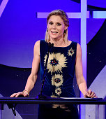 Actress Julie Bowen speaks onstage at the 19th Annual Art Directors Guild Excellence In Production Design Awards at the Beverly Hilton Hotel on...