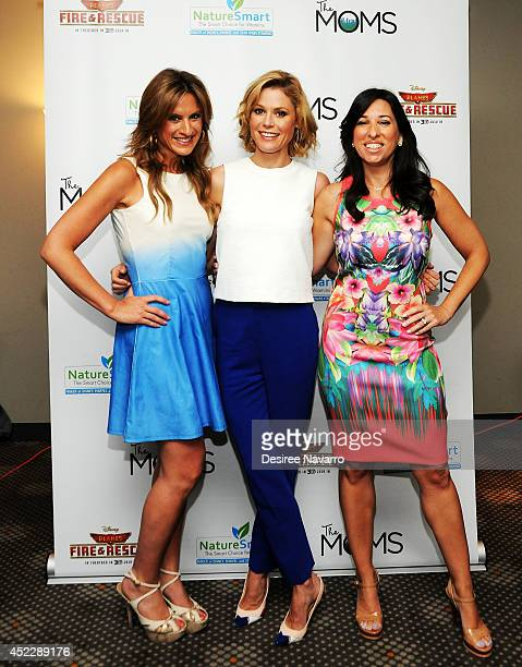 Actress Julie Bowen with Denise Albert and Melissa Musen Gerstein of The MOMS attend the 'Planes Fire And Rescue' screening hosted by The Moms at...