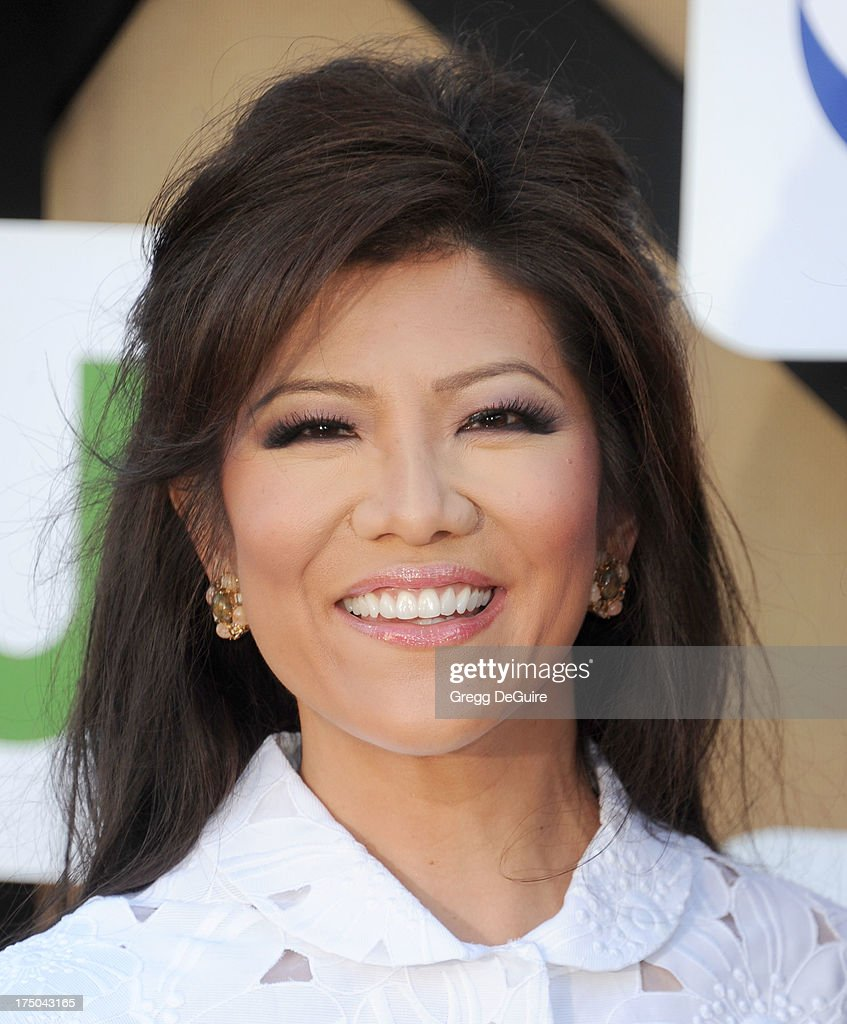 Actress <a gi-track='captionPersonalityLinkClicked' href=/galleries/search?phrase=Julie+Chen&family=editorial&specificpeople=206213 ng-click='$event.stopPropagation()'>Julie Chen</a> arrives at the CBS/CW/Showtime Television Critic Association's summer press tour party at 9900 Wilshire Blvd on July 29, 2013 in Beverly Hills, California.