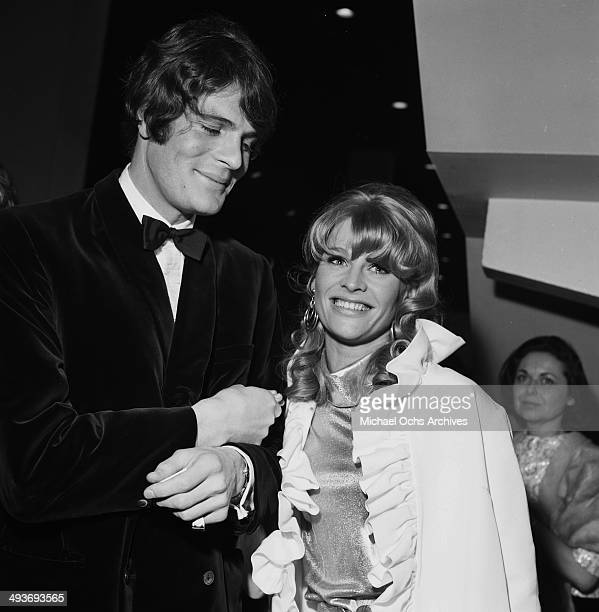 Actress Julie Christie attends a party with Don Bressant in Los Angeles California