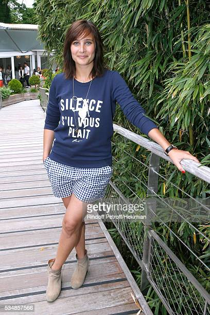 Actress Julie de Bona attends Day Seven of the 2016 French Tennis Open at Roland Garros on May 28 2016 in Paris France