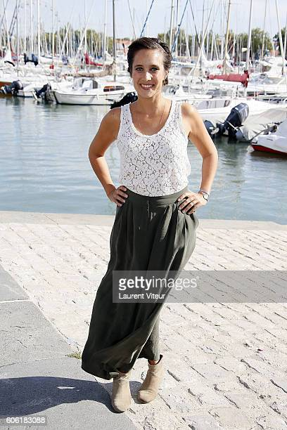 Actress Julie de Bona attends the 'Innocente' Photocall during the 18th Festival of TV Fiction on September 16 2016 in La Rochelle France