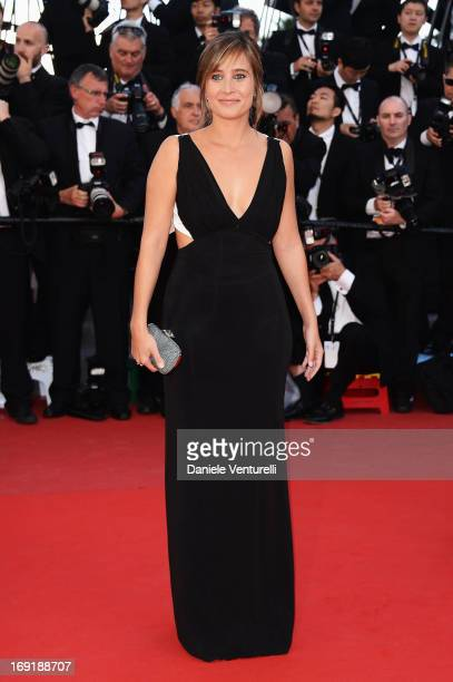 Actress Julie De Bona attends the Premiere of 'Behind the Candelabra' during the 66th Annual Cannes Film Festival at Palais des Festivals on May 21...