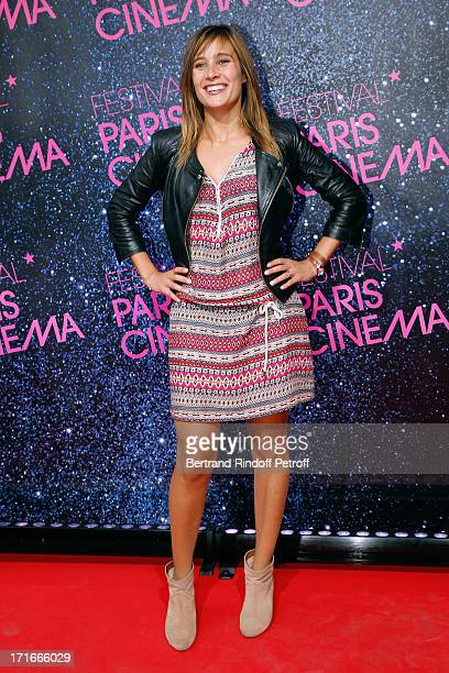 Actress Julie de Bona poses at Festival Paris Cinema Opening night and premiere of 'La Venus a la fourrure' held at Gaumont Capucines on June 27 2013...