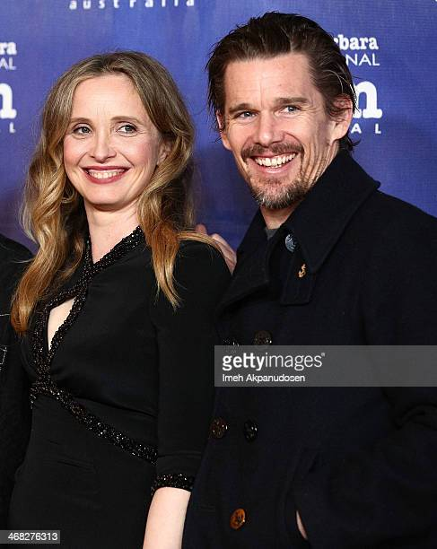 Actress Julie Delpy and actor Ethan Hawke attend the 29th Santa Barbara International Film Festival closing night screening of 'Before Midnight' at...