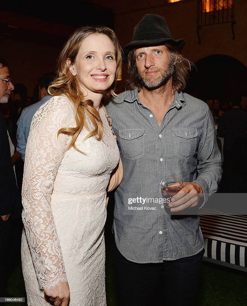 Actress Julie Delpy and editor Saar Klein attend the after party for the AFI FEST 2013 presented by Audi closing night gala screening of 'Inside...