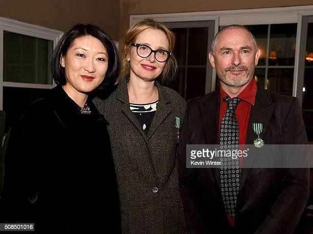 Actress Julie Delpy and Francois Truffart Executive Producer/Director and Artistic Director French Film Festival COLCOA receive the French Order of...