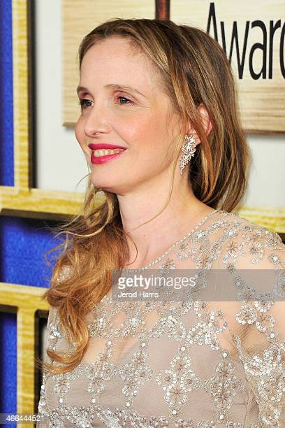 Actress Julie Delpy arrives at the 2014 Writers Guild Awards LA Ceremony at JW Marriott Los Angeles at LA LIVE on February 1 2014 in Los Angeles...