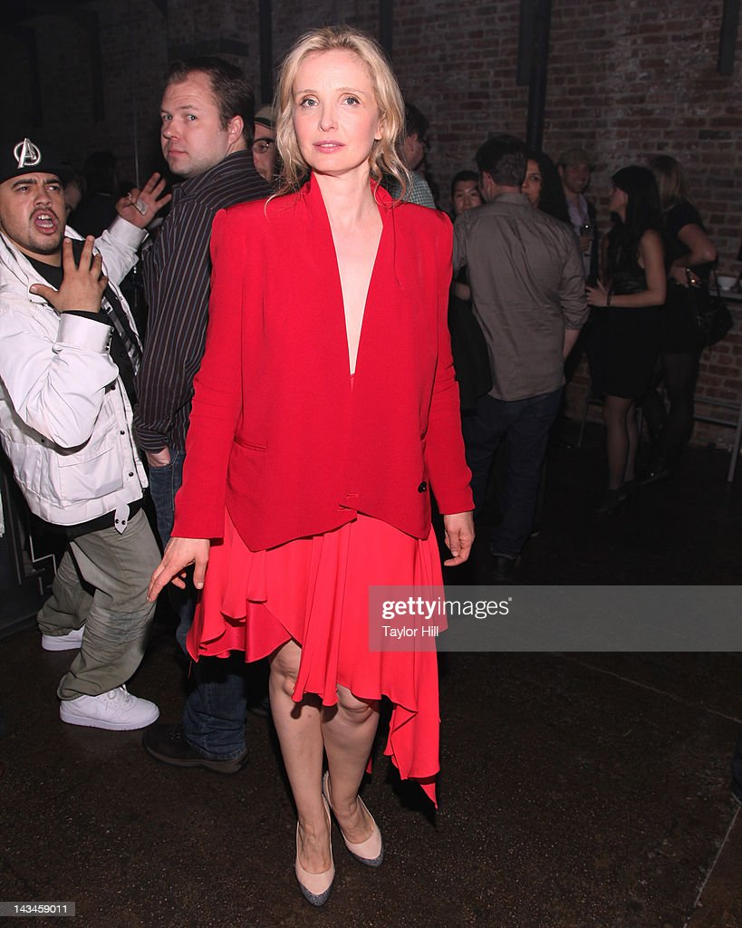Actress Julie Delpy attends the '2 Days in New York' premiere after party during the 2012 Tribeca Film Festival at Bombay Sapphire House Of...
