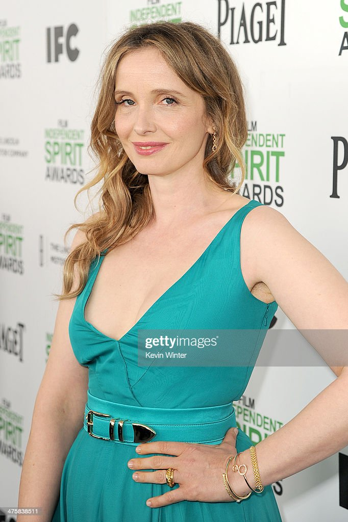 Actress Julie Delpy attends the 2014 Film Independent Spirit Awards at Santa Monica Beach on March 1, 2014 in Santa Monica, California.