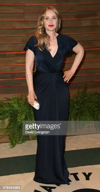 Actress Julie Delpy attends the 2014 Vanity Fair Oscar Party hosted by Graydon Carter on March 2 2014 in West Hollywood California