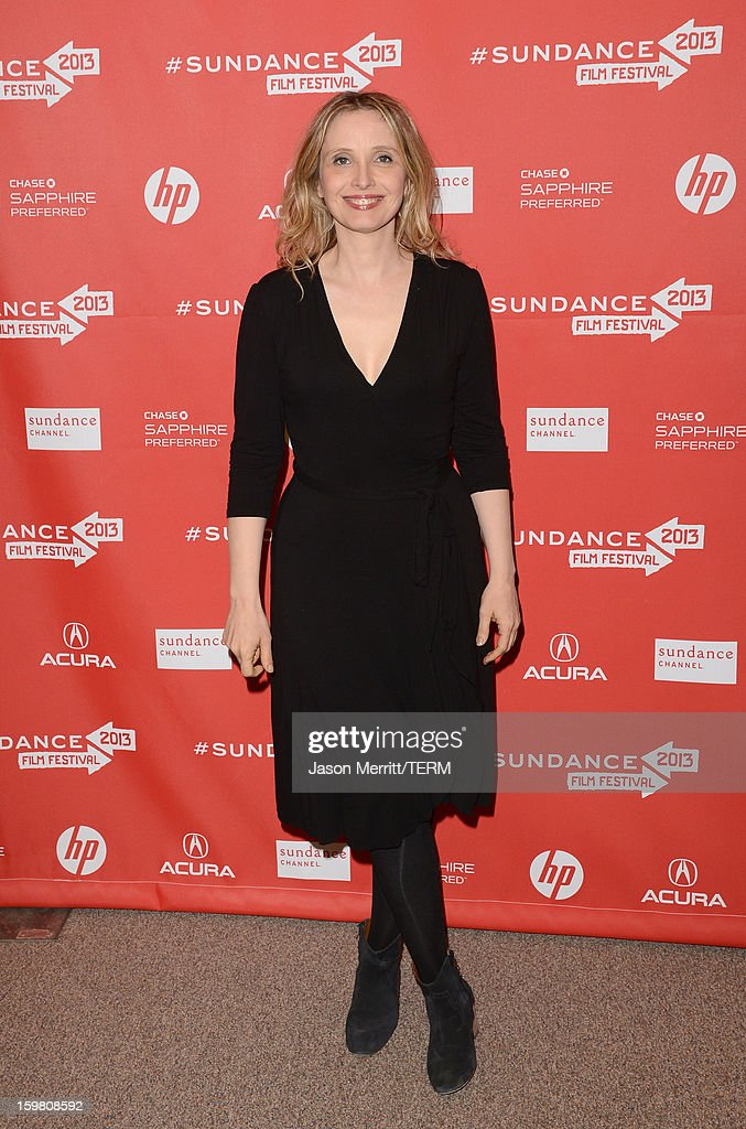 Actress <a gi-track='captionPersonalityLinkClicked' href=/galleries/search?phrase=Julie+Delpy&family=editorial&specificpeople=201914 ng-click='$event.stopPropagation()'>Julie Delpy</a> attends the 'Before Midnight' premiere at Eccles Center Theatre on January 20, 2013 in Park City, Utah.