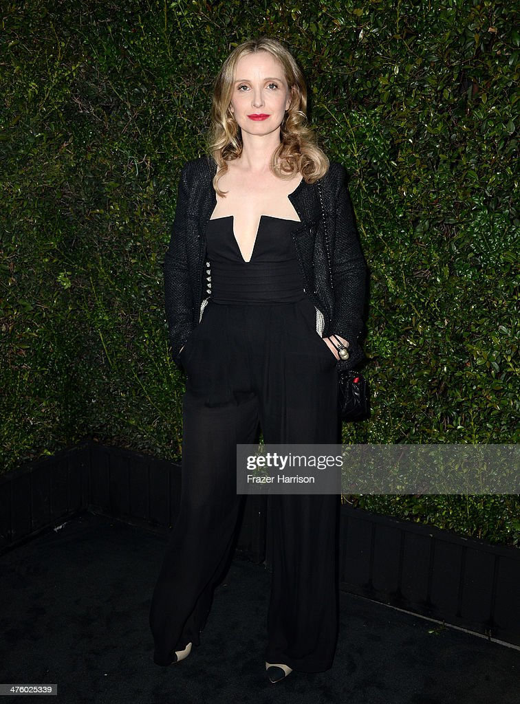 Actress Julie Delpy attends the Chanel and Charles Finch Pre-Oscar Dinner at Madeo Restaurant on March 1, 2014 in Los Angeles, California.