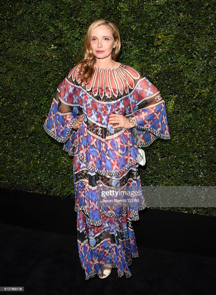 Actress <a gi-track='captionPersonalityLinkClicked' href=/galleries/search?phrase=Julie+Delpy&family=editorial&specificpeople=201914 ng-click='$event.stopPropagation()'>Julie Delpy</a> attends the Charles Finch and Chanel Pre-Oscar Awards Dinner at Madeo Restaurant on February 27, 2016 in Los Angeles, California.