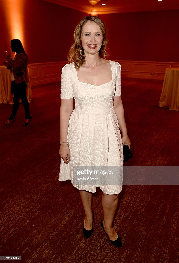 Actress <a gi-track='captionPersonalityLinkClicked' href=/galleries/search?phrase=Julie+Delpy&family=editorial&specificpeople=201914 ng-click='$event.stopPropagation()'>Julie Delpy</a> attends the Hollywood Foreign Press Association's 2013 Installation Luncheon at The Beverly Hilton Hotel on August 13, 2013 in Beverly Hills, California.