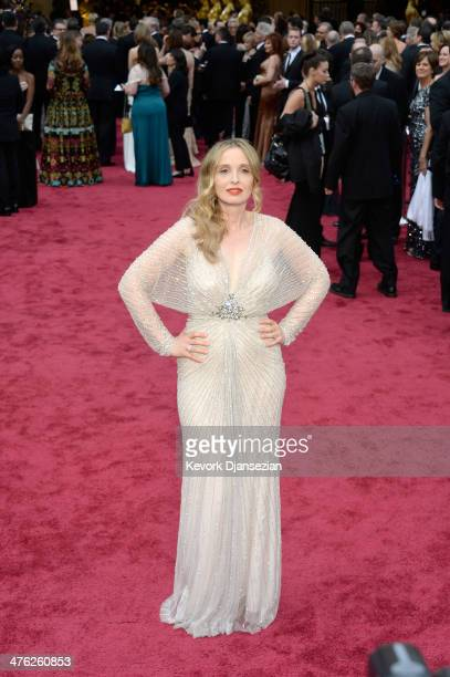 Actress Julie Delpy attends the Oscars held at Hollywood Highland Center on March 2 2014 in Hollywood California