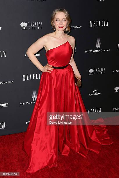 Actress Julie Delpy attends The Weinstein Company's 2014 Golden Globe Awards After Party at The Beverly Hilton hotel on January 12 2014 in Beverly...