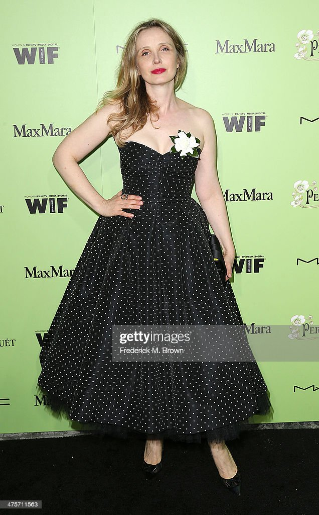 Actress <a gi-track='captionPersonalityLinkClicked' href=/galleries/search?phrase=Julie+Delpy&family=editorial&specificpeople=201914 ng-click='$event.stopPropagation()'>Julie Delpy</a> attends the Women in Film Pre-Oscar Cocktail Party Presented by Perrier-Jouet, MAC & MaxMara at the Fig & Olive Melrose Place on February 28, 2014 in West Hollywood, California.