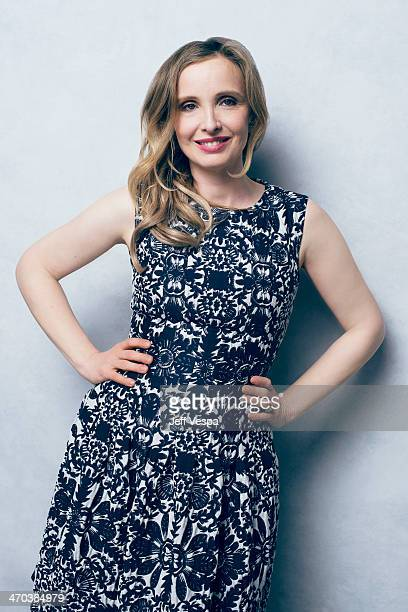 Actress Julie Delpy is photographed or Self Assignment on February 10 2014 in Beverly Hills California